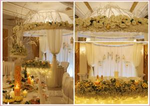 свадебный шатер флористика декор николаев