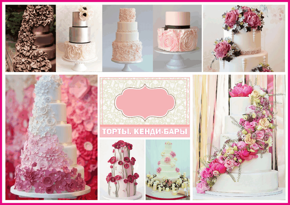 Свадебный торт, кэнди бар